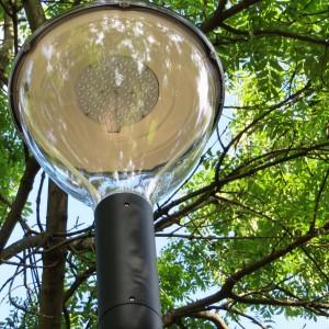 Stadsparken i Borgå har fått modern led-belysning