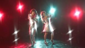 Anna-Karin och Jontti i disco mode