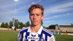 HJK-mittfältaren Fredrik Lassas.