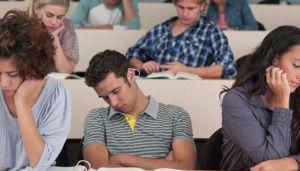 Sleepy students