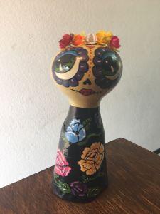 Catrina Catalina en vestido tipico de Oaxaca