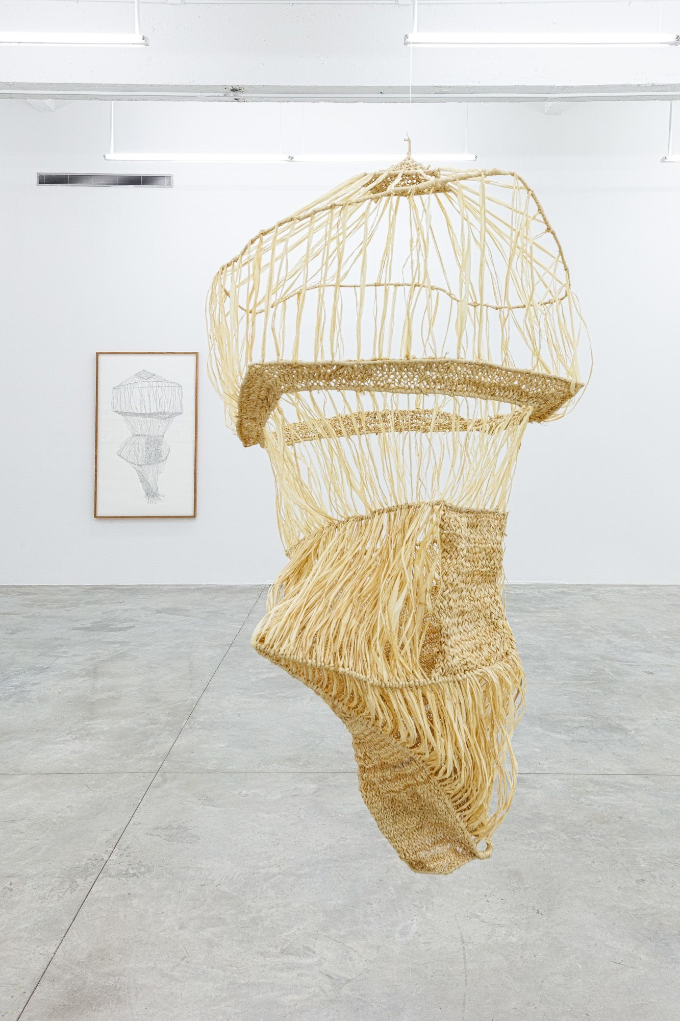 One clump of raffia reconstruction