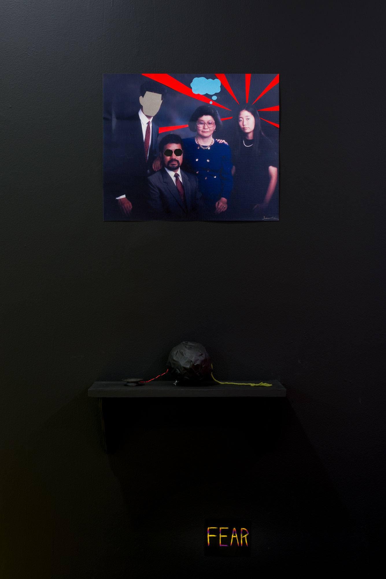 "Stefan's ""vision board,"" detail"