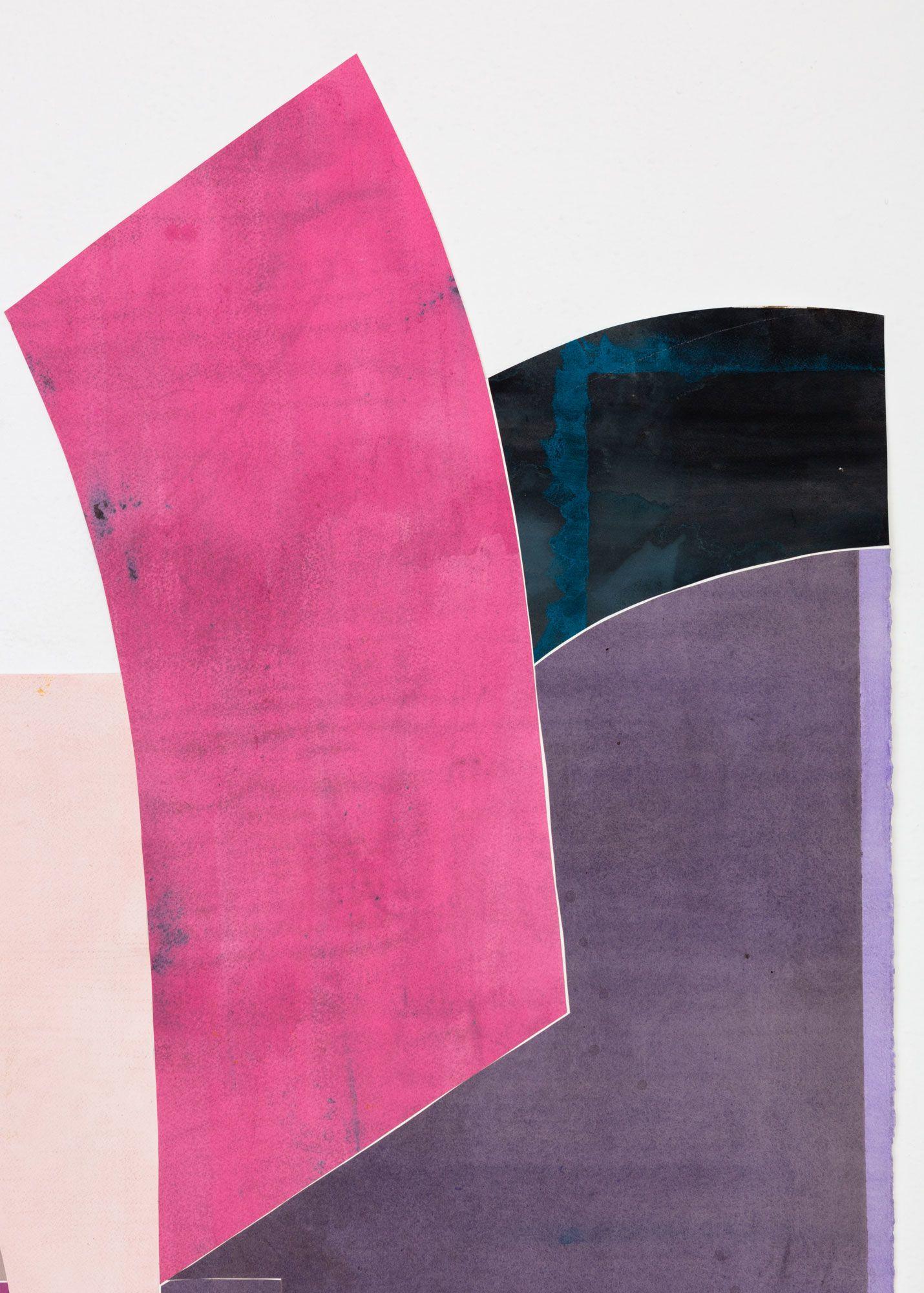 Untitled (floor paper, 2 pinks, 4 purples), detail