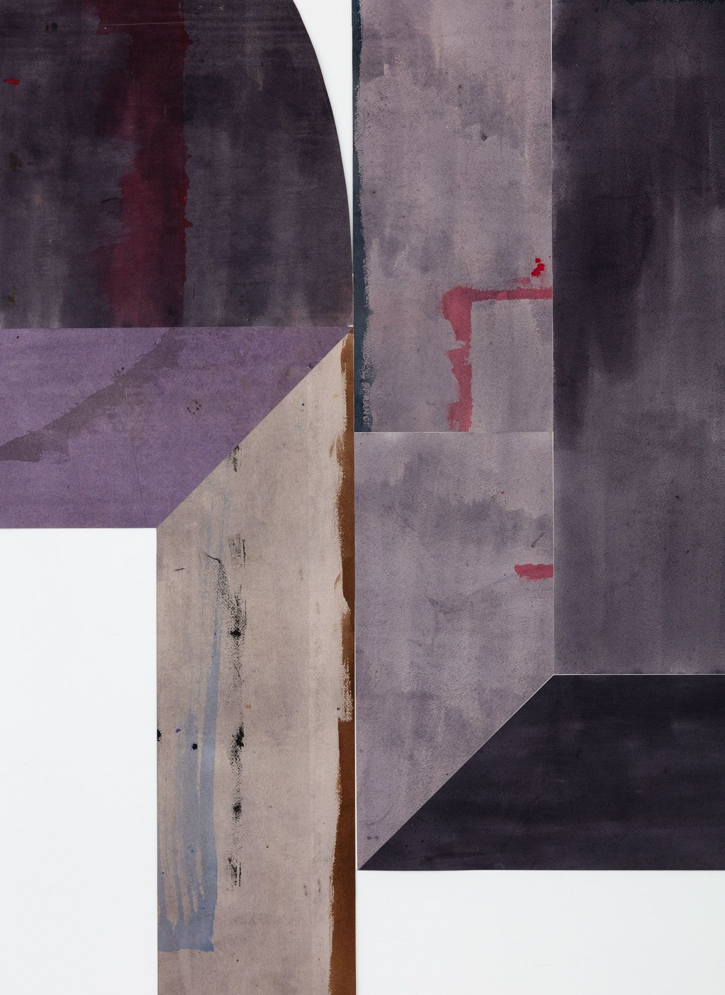Untitled (floor paper, medium, all gall), detail