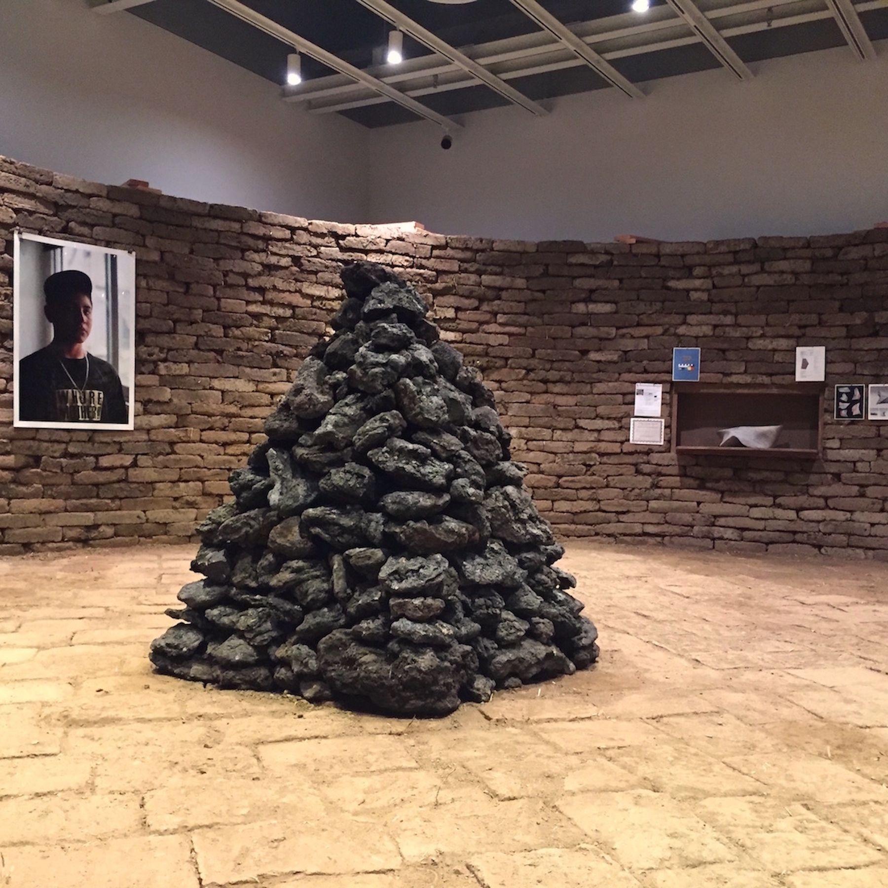Whitney Biennial 2017, in rafa esparza's Figure Ground: Beyond the White Field