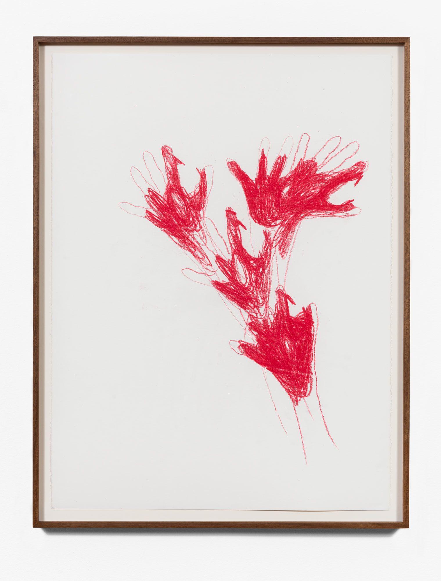 Gloved Dog floral-single color/red
