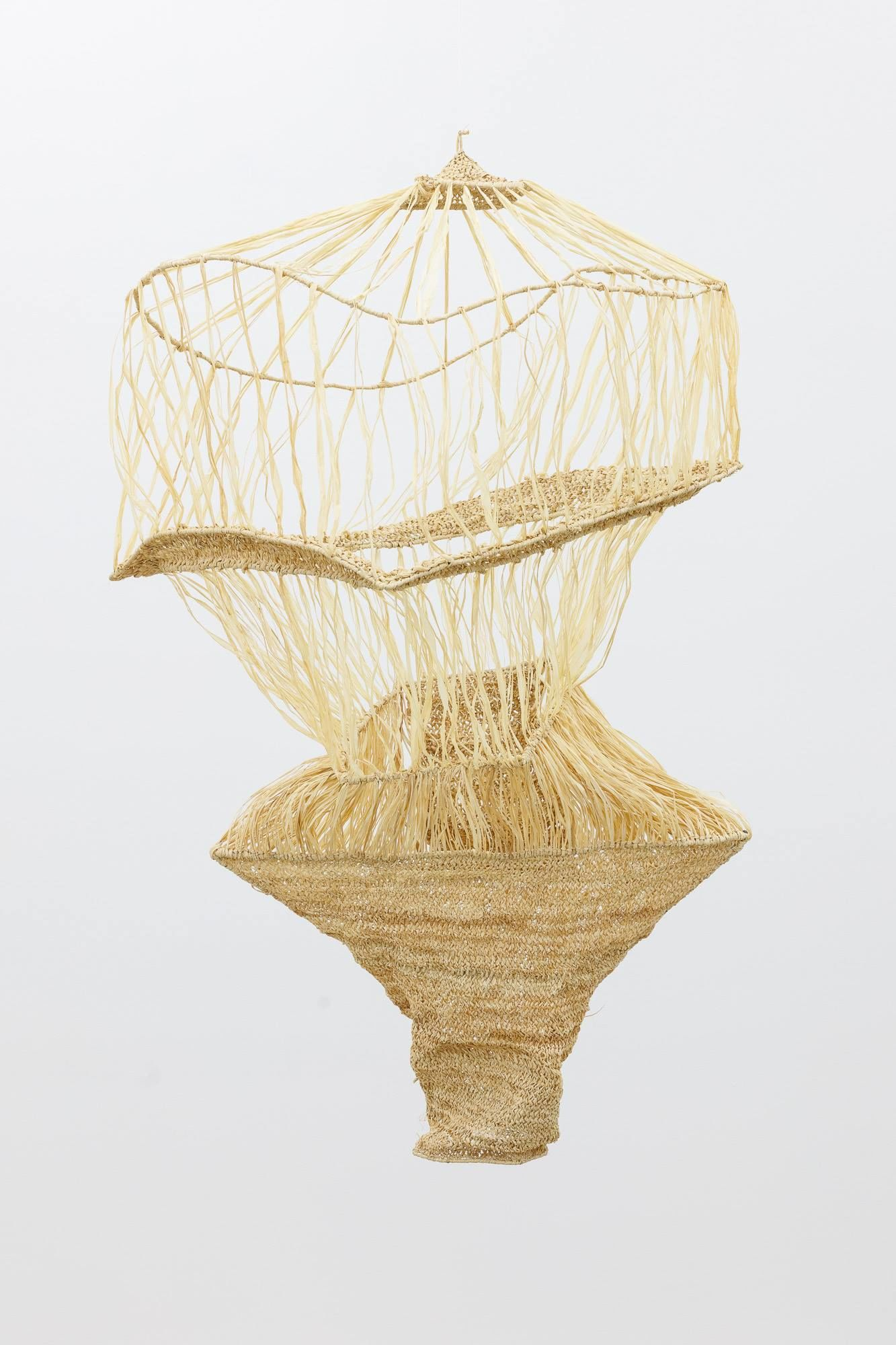 Gala Porras-Kim, One clump of raffia reconstruction