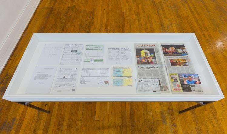 Original ephemera from NuMu's journey, 2017 / Printed copy of article by Carolina Miranda published in the LA Times, September 12, 2017