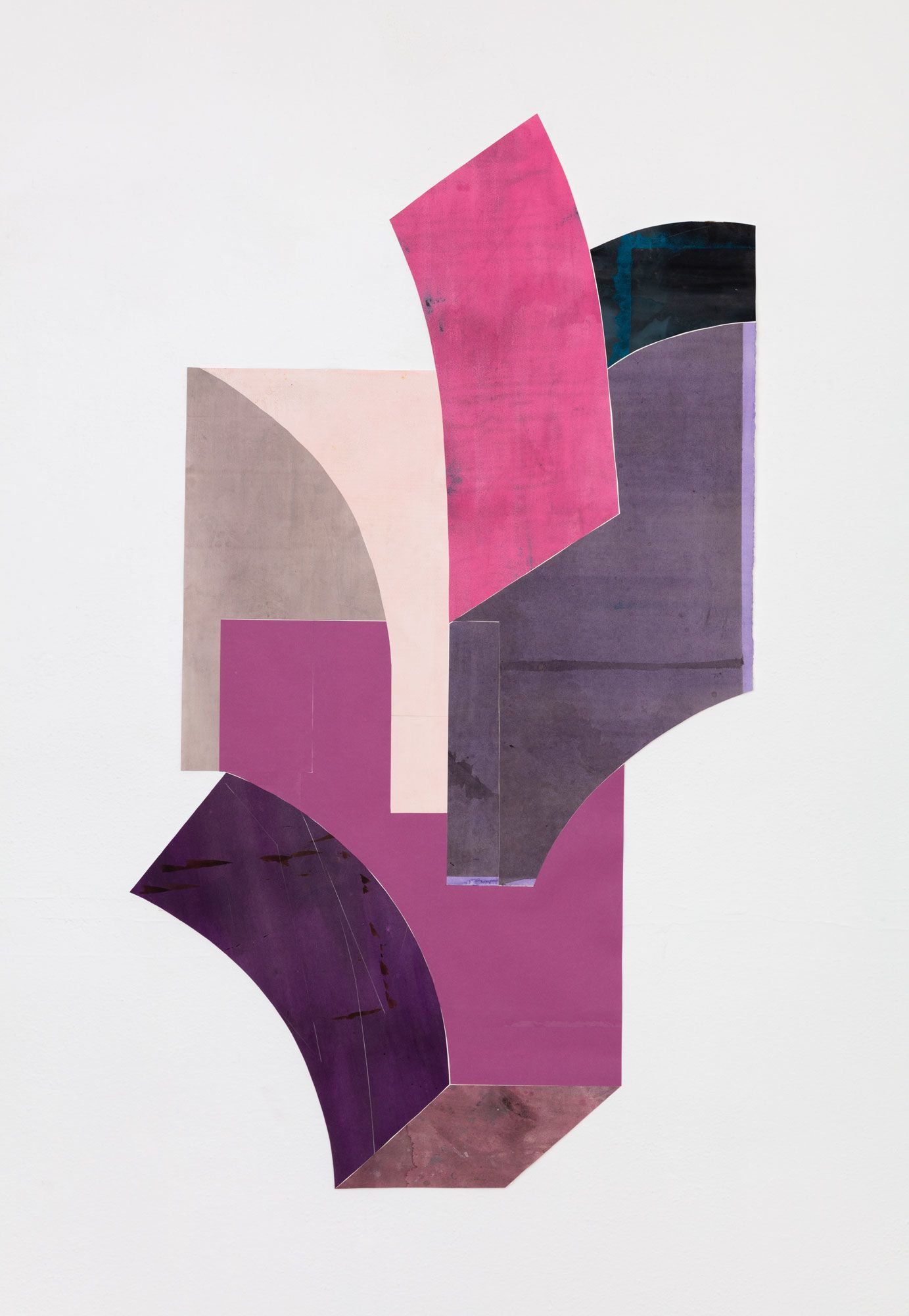 Untitled (floor paper, 2 pinks, 4 purples)