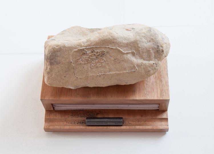 San Pablo Coatlan Plate 40, transfer stone, 2013