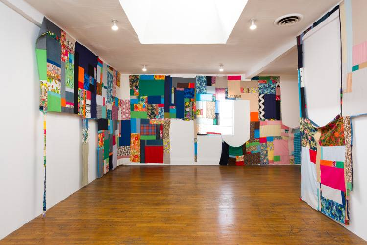 Mother Cloth, Installation view (week 6)