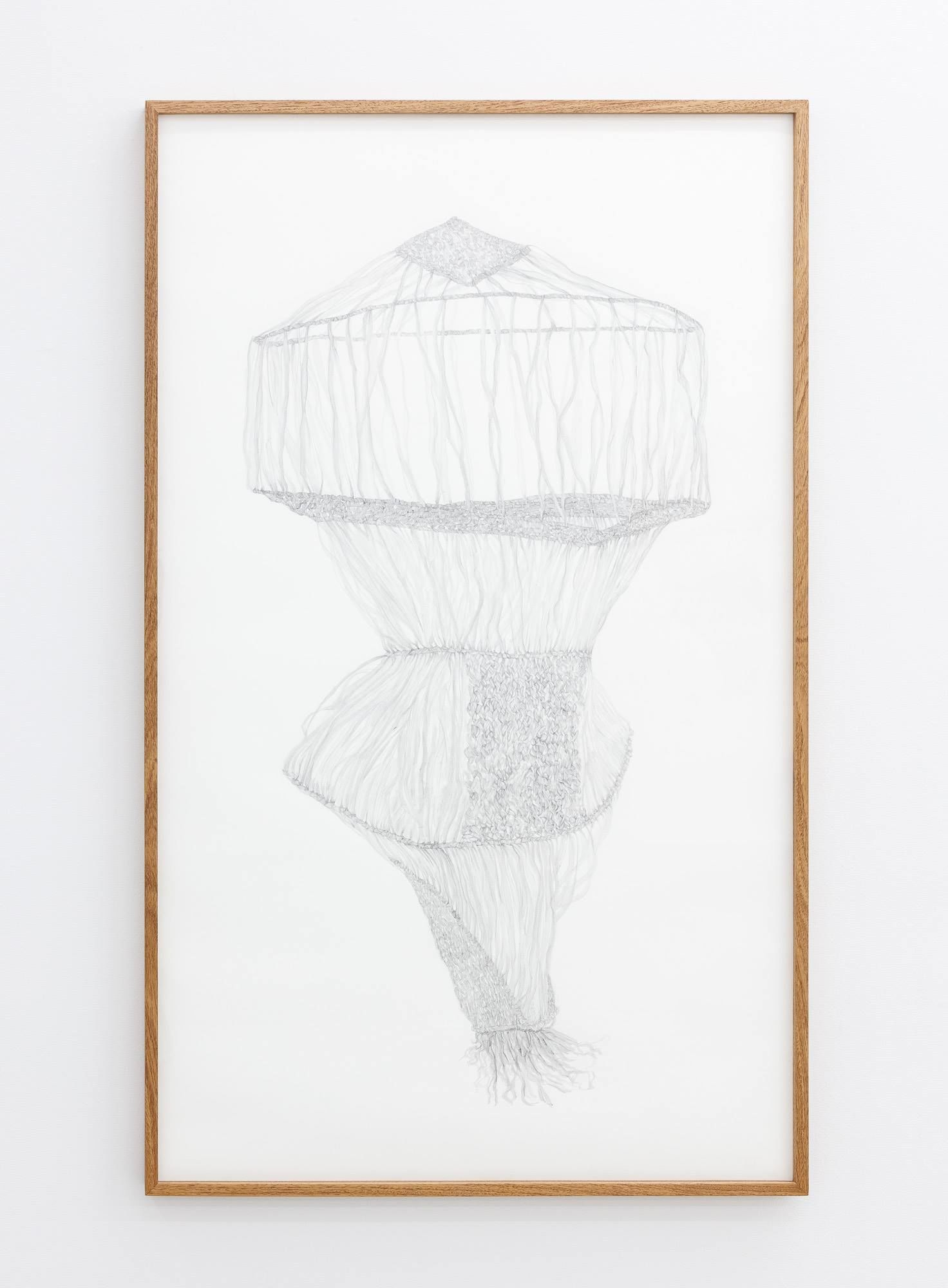 Gala Porras-Kim, One clump of raffia reconstruction, 2016