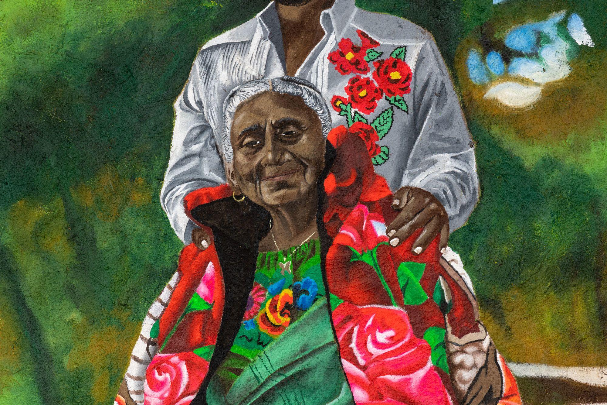Yosi con Abuelita, detail