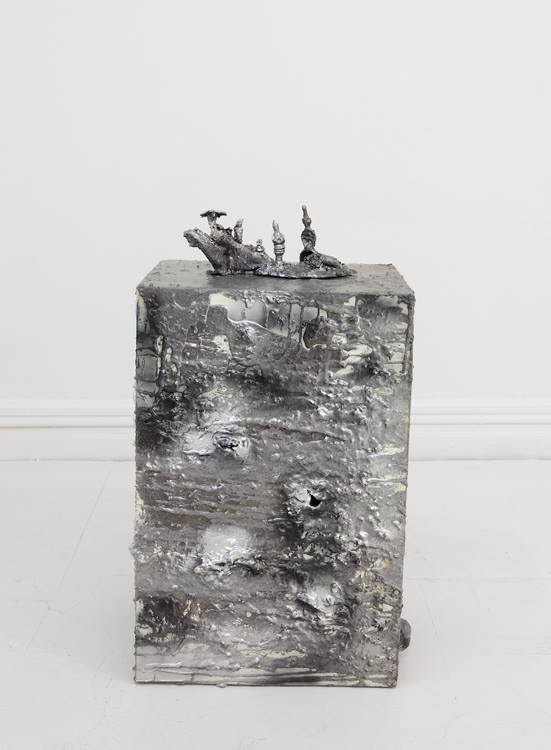 Young Joon Kwak, Trans-Creation Relic and Untitled (Plinth IV)