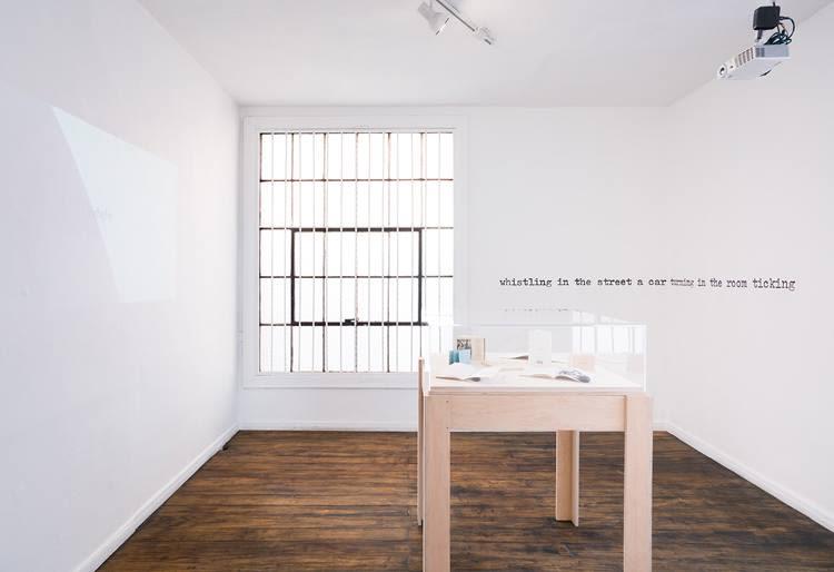 Aram Saroyan, Installation view