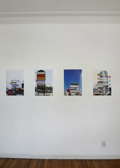 Remembering Places by the Shape of their Billboard 1-4 installation view, 2010