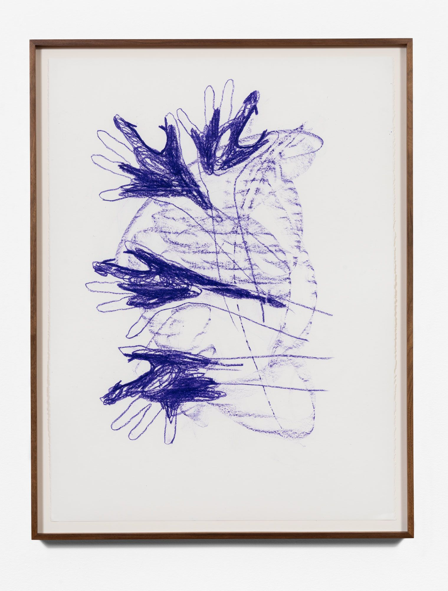 Gloved Dog floral-single color/violet
