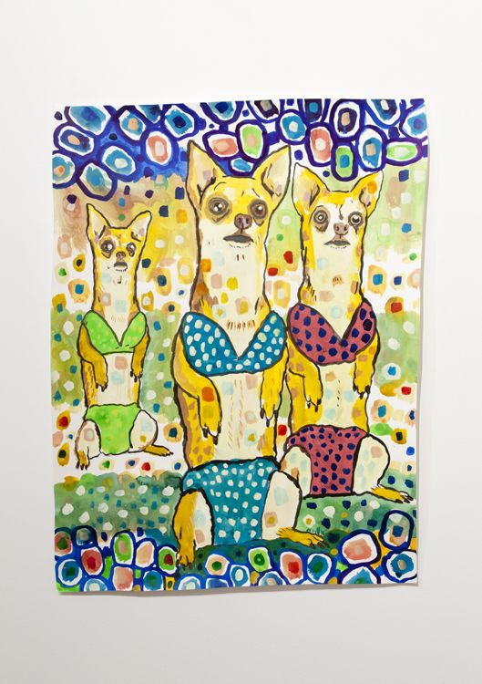 Three Chihuahuas Wearing Bikinis, detail