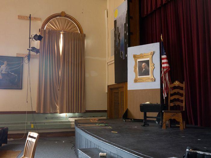 "Provincetown Schools, Theater, set of ""Annie,"" Provincetown, Massachusetts"