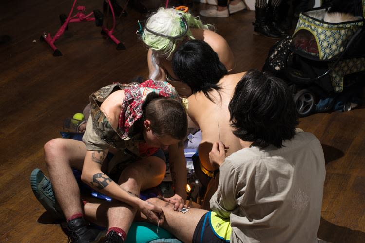 Tattoo Circle, performance w/ laub, Marvin Astorga, Jennifer Moon, and Young Joon Kwak