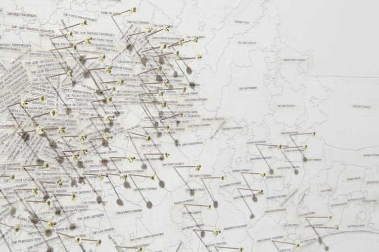 Mapping tones (all documented Zapotec dialects in Oaxaca), detail
