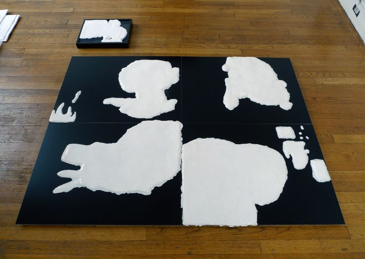 ...with Observations on their Habits, [white silicone casts with black pedestals]