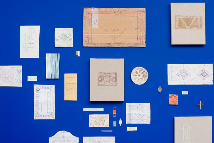 Various reference materials, drawings and notes, detail