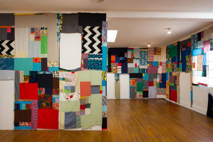 Mother Cloth, Installation view (week 3)