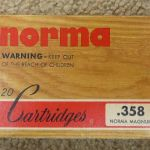 Norma .358 Norma Magnum ammo and brass