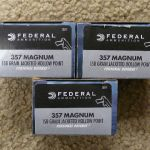 3 boxes, 60 rounds, Federal 357 Rem Mag Personal Defense
