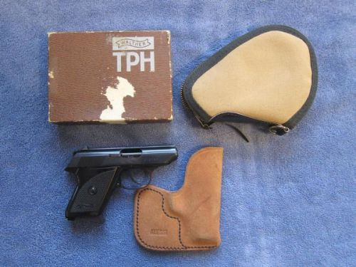 Walther TPH .22cal True German Made, Very Rare, Box, All Info,Boyt Caes And One Of A Kind Alessi Pocket Holster.