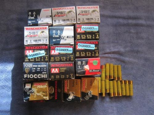 20 gauge shotgun shells Turkey, AA, Game and Steel shot Duck/Goose Loads