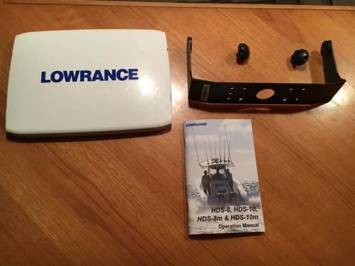 Lowrance HDS 10 Gen 2 Sun Cover, Gimbel Mount, and Manual