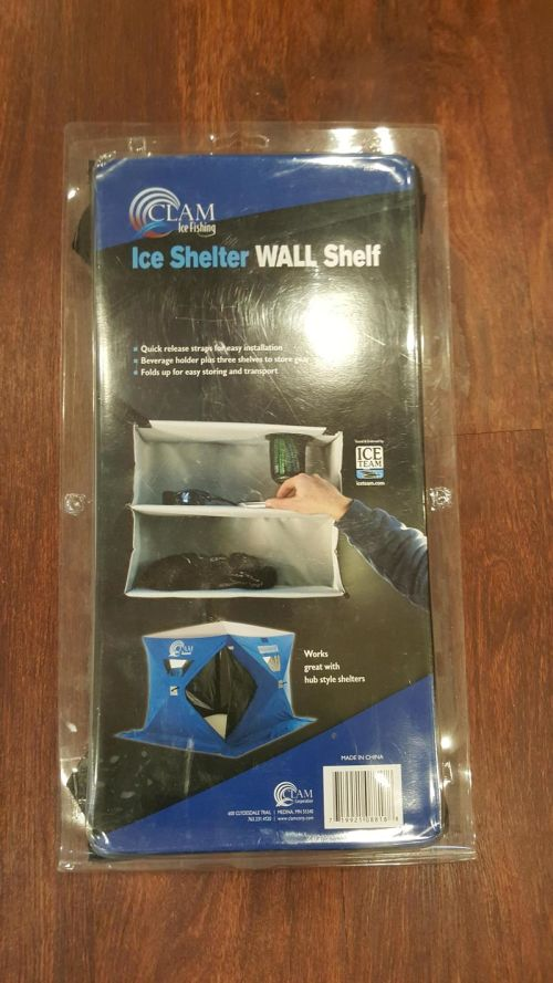 Clam Ice Shelter Wall Shelf