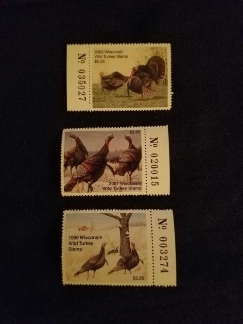 Wisconsin Turkey Stamps (NOT SIGNED)