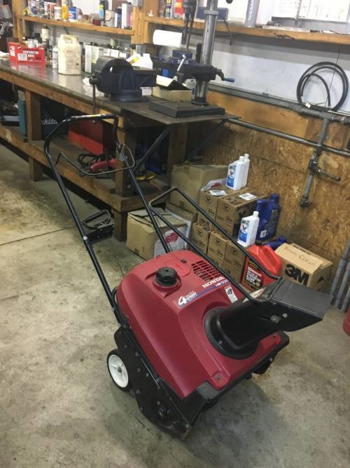 First $200 buys it!!! Honda Snow Blower HS520