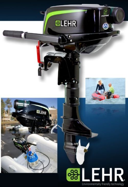 Lehr 5 hp outboard, propane fuel, $1700-1800 package- MAKE OFFER!