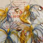 6TOTAL STRIKE KING SPINNERBAITS -1/2OZ DOUBLE BLADED SKIRTED