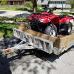 Honda ATV and Alum Trailer