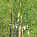 6 fishing rods and 1 reel $25