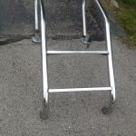 stainless steel pool style ladder