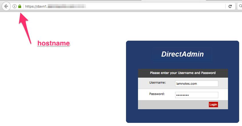 Cài đặt SSL Let's Encrypt cho hostname DirectAdmin