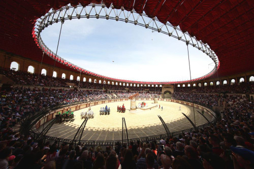 Photo du grand stade Gallo Romain du Puy du Fou