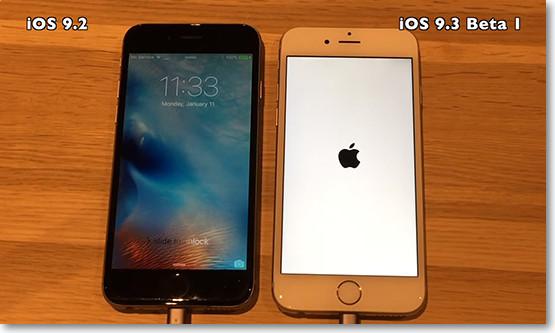 perbandingan ios 9.2 dengan iOS 9.3 beta 1
