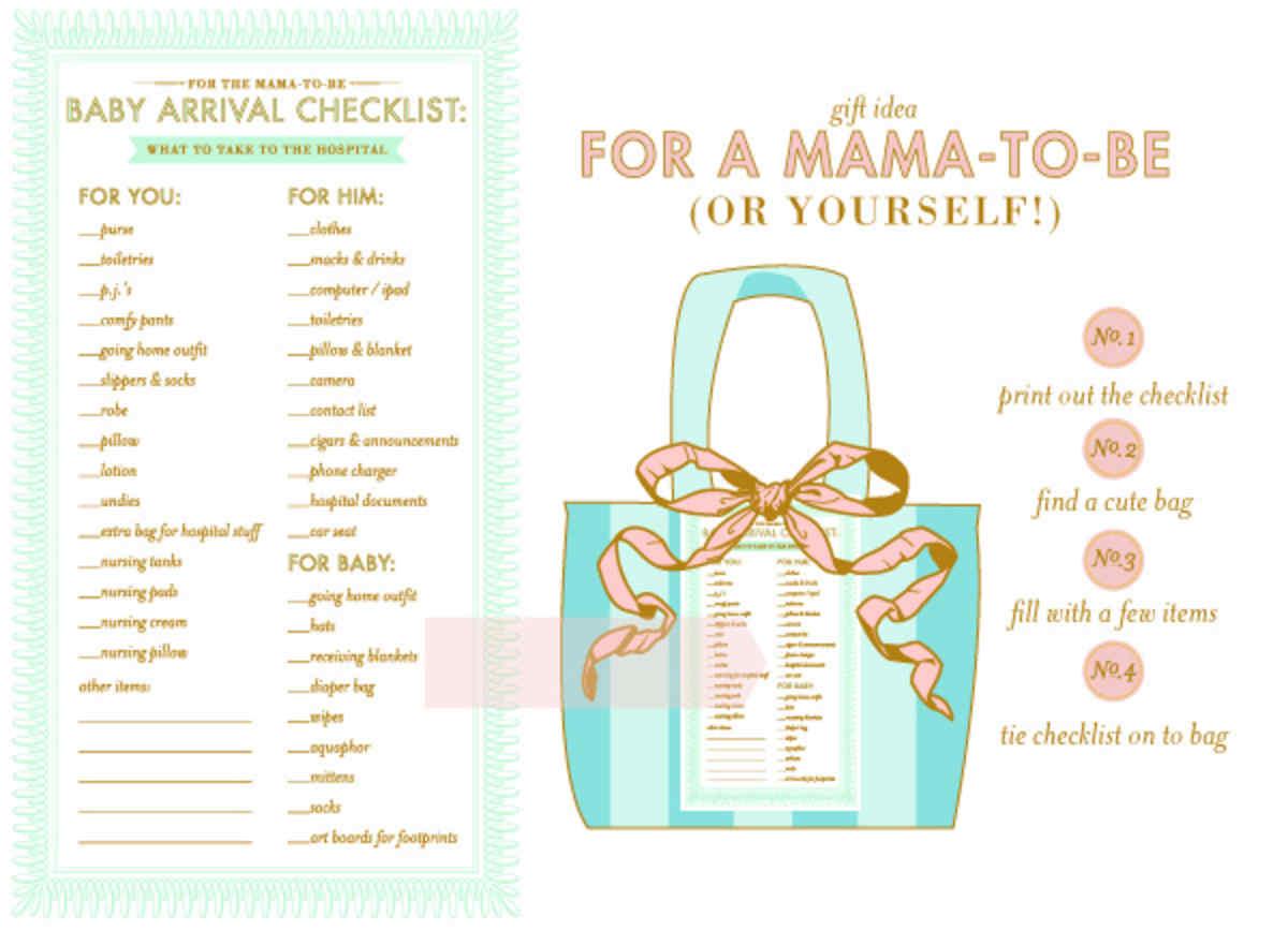 baby arrival checklist