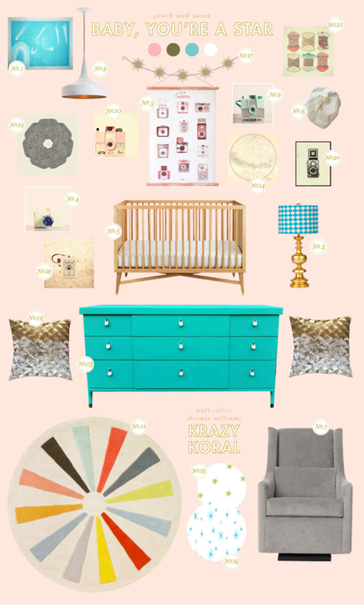 peach baby room ideas