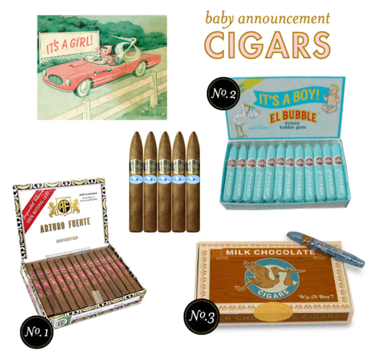 baby announcement cigars