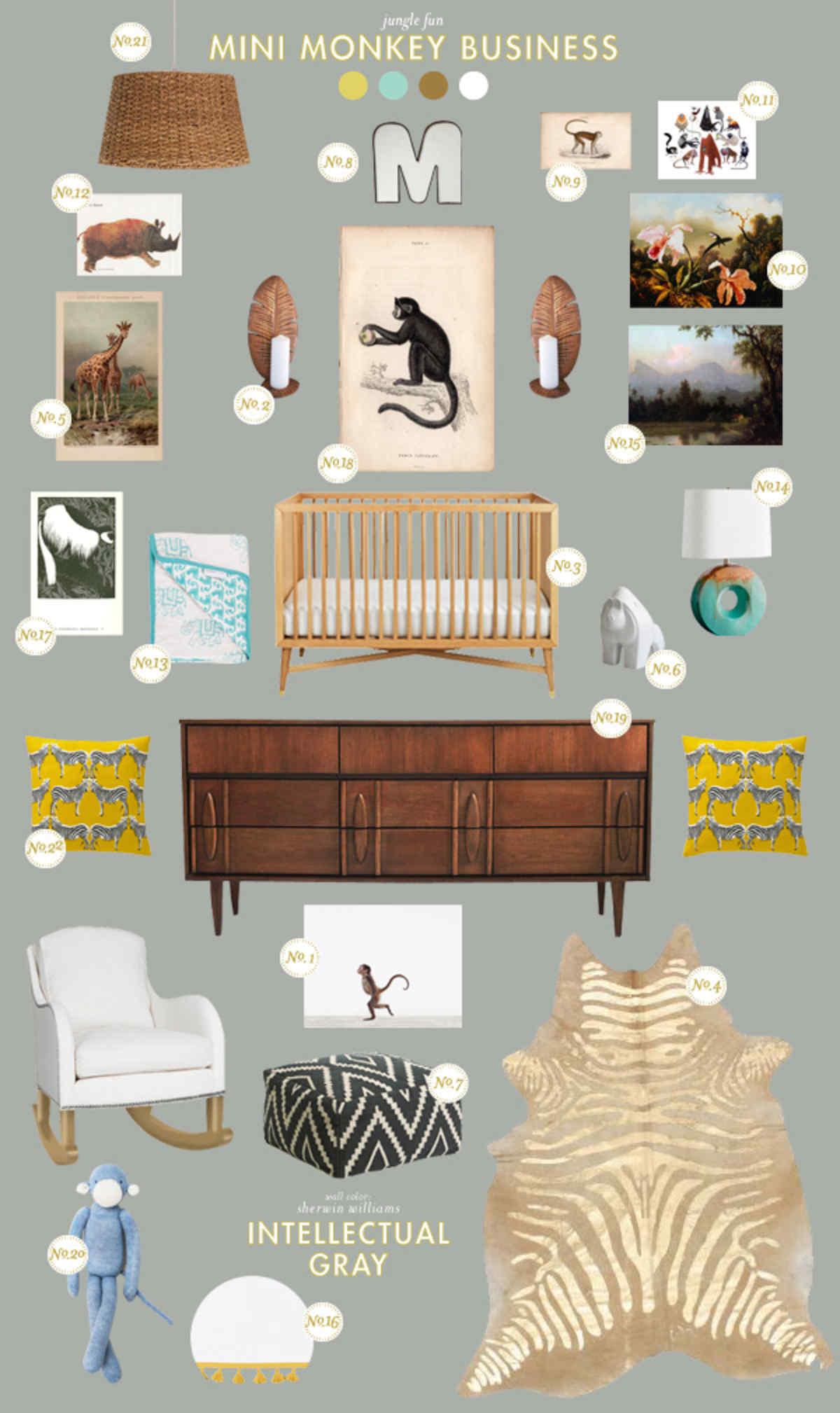 monkey baby room ideas
