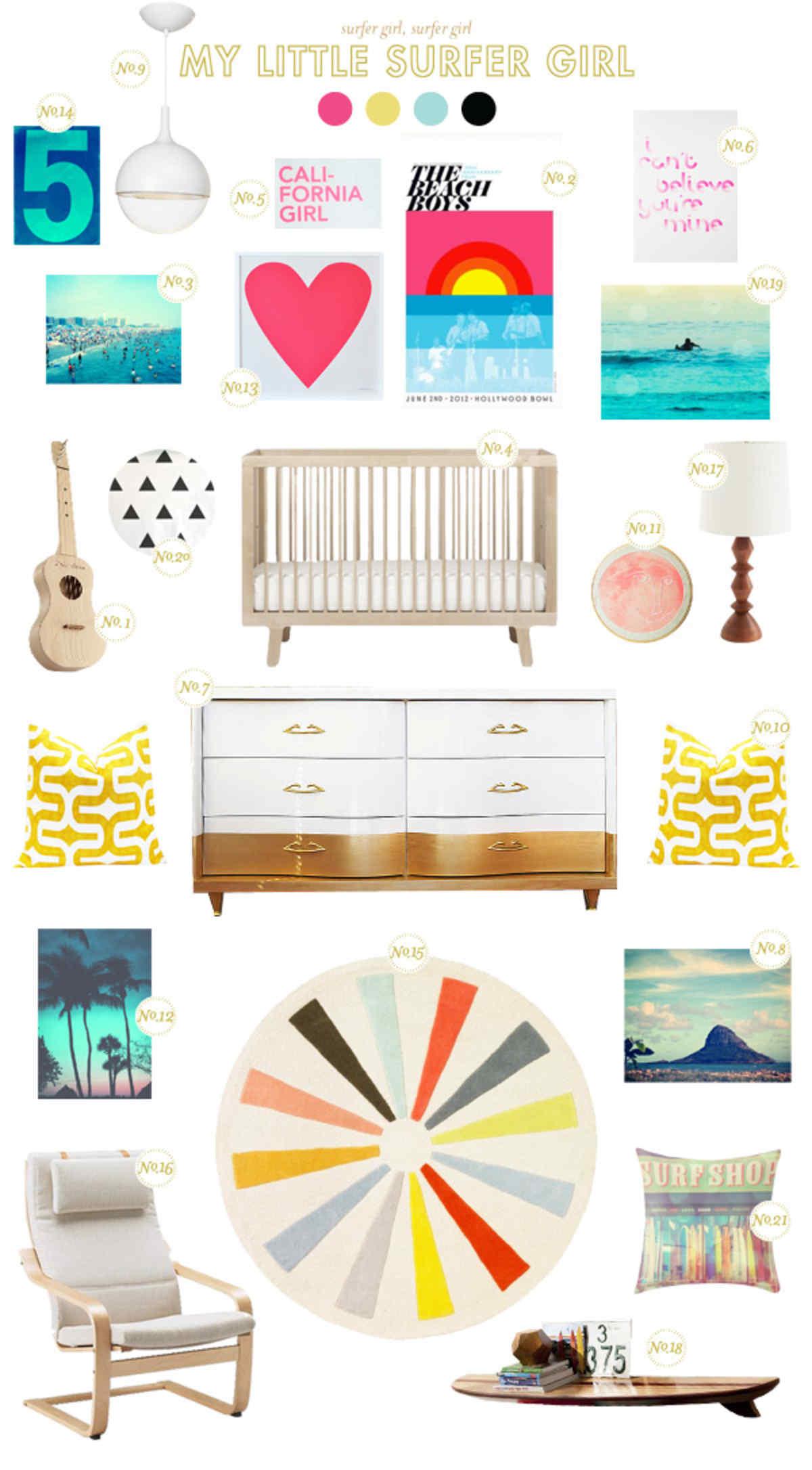 surfing baby nursery inspiration